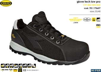 Zapatilla Glove Tech Low Pro S1P SRA HRO ESD GEOX 701.173657